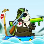Панда против обезьянок