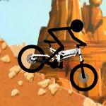 Рисованный человек на велосипеде