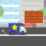 Пиксельный грузовик