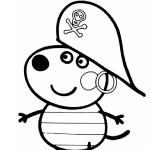 Раскраска Дени-пирата