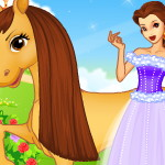 Одевалка лошади и девушки