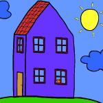 Раскраска домика Пеппы