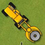 Дровосек на тракторе