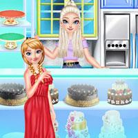 Эльза и Анна готовят пирог