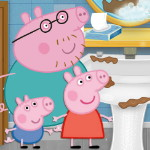 Уборка ванной со Свинкой Пеппой