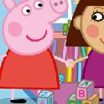 Пазл Свинка Пеппа с девочкой