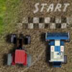 Трактор против комбайна