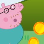 Папа Свин собирает монеты