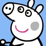 Раскраска Свинки Пеппы и Джорджа