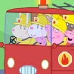 Пазл Пеппа в пожарной машине