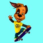 Дружок на скейте