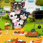 Кот Том и семья Воскресная готовка