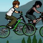 Бен 10 на велосипеде