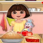 Даша готовит томатный пирог