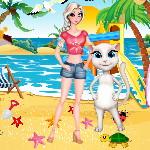 Эльза и Анджела время для серфинга