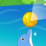 Баскетбол с дельфином