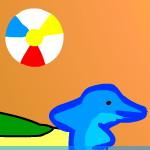 Волейбол с дельфинами