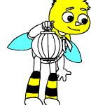 Раскрась пчелку