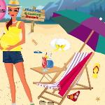 Будущая мама: Уборка на пляже
