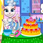 Анжела готовит торт