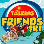 Говорящие друзья катаются на лыжах