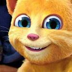 Говорящий кот Рыжик с игрушками
