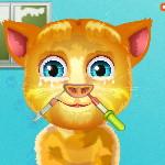 Говорящий кот Рыжик у Лор врача