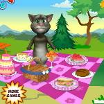 Кот Том на летнем пикнике