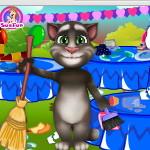 Кот Том: Уборка после дня рождения