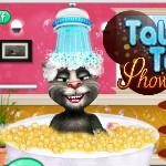 Кот Том в душе