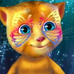 Говорящий кот: Живопись на лице рыжика