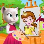 Говорящая Анжела рисует малышку Бель