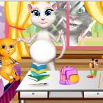 Беременная Анжела: Подготовка к школе