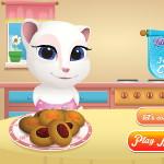 Анжела готовит печенье с джемом
