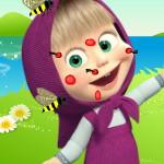 Машу ужалили пчелы