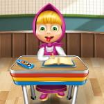 Маша шалит в школе