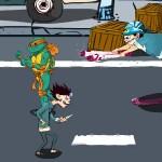 Черепашка против зомби