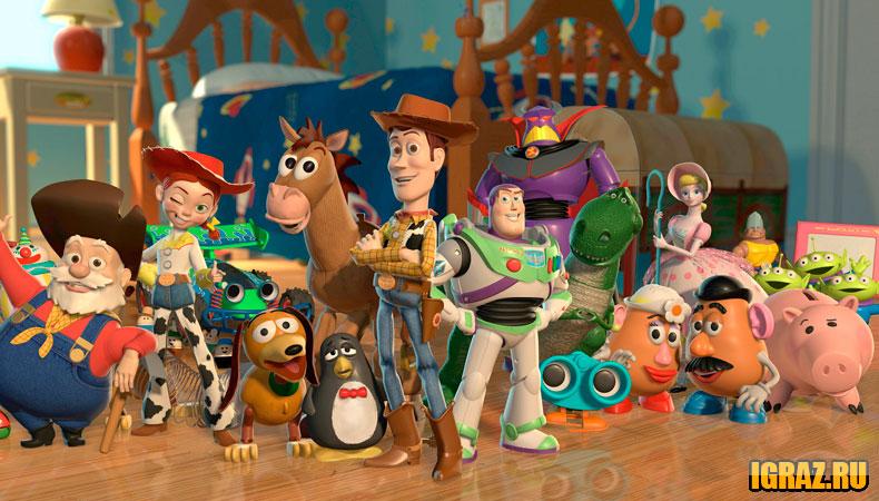 мир игрушек мультфильм персонажи тонкое комбинированное