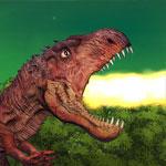 Тираннозавр в городе