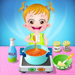 Малышка на кухне