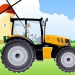 Бен 10 гоняет на тракторе