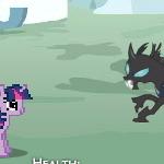 Рарити Сражение С Темными Лошадками