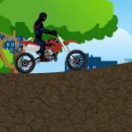Мотоциклист человек-паук
