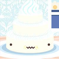 Кавайный свадебный торт