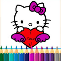 Раскраска котёнка
