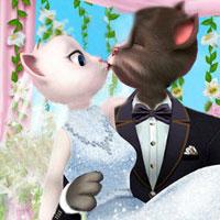Свадьба кота Тома и Анжелы