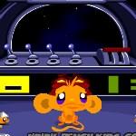 Счастливая обезьянка в космосе