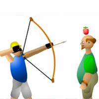 Стрельба по яблоку на голове
